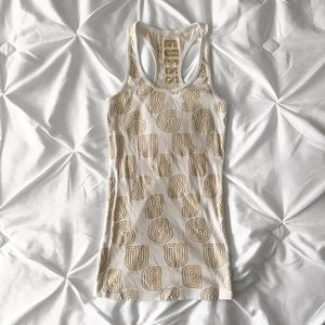 GUESS | White tank top with gold logos